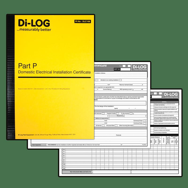 Part P Certificate >> Dlc106 Di Log