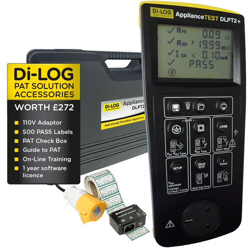 DLPTx Series ApplianceTest Manual PAT Testers from £349.00 +vat